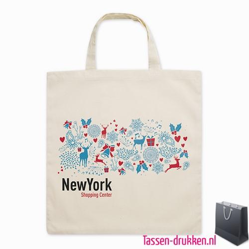 Biologisch katoenen tas bedrukken goedkoop, tassen bedrukken, tasje bedrukt, bedrukte tas met logo
