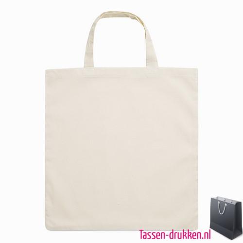 Biologisch katoenen tas bedrukken shopper, tassen bedrukken, tasje bedrukt, bedrukte tas met logo