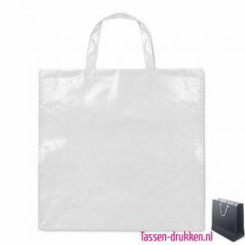 Gelamineerde boodschappentas bedrukken wit, boodschappentas tas bedrukt, bedrukte boodschappentas, goedkope boodschappentas met logo, big shopper bedrukken