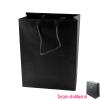 Gelamineerde geschenktas bedrukken zwart, Gelamineerde papieren tas bedrukt, bedrukte papieren tas met logo, goedkope papieren tas