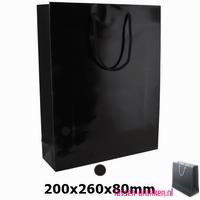 Gelamineerde geschenktas bedrukken zwarte, Gelamineerde papieren tas bedrukt, bedrukte papieren tas met logo, goedkope papieren tas