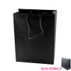 Gelamineerde tas goedkoop bedrukken zwart, Gelamineerde papieren tas bedrukt, bedrukte papieren tas met logo, goedkope papieren tas