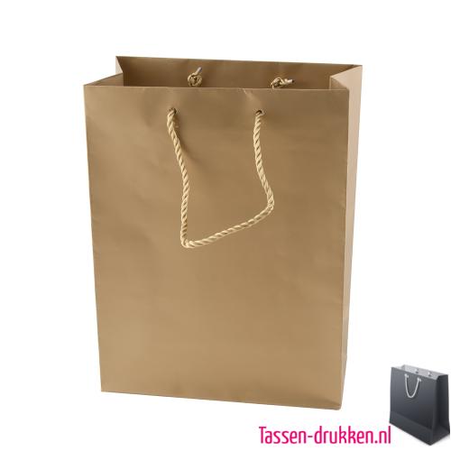 Gelamineerde tas mat bedrukken goud, Gelamineerde papieren tas bedrukt, bedrukte papieren tas met logo, goedkope papieren tas