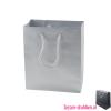 Gelamineerde tas mat bedrukken zilver, Gelamineerde papieren tas bedrukt, bedrukte papieren tas met logo, goedkope papieren tas