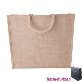 Jute boodschappentas bedrukken milieuvriendelijk, jute tas bedrukt, bedrukte jute tas met logo