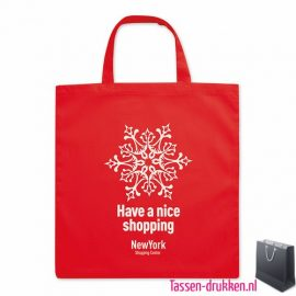 Katoenen boodschappentas bedrukken rode, biologisch tasje bedrukt, duurzaam tasje met logo, goedkope katoenen tas