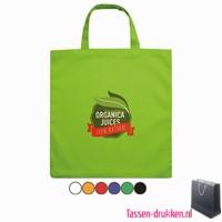 Katoenen boodschappentas bedrukken, biologisch tasje bedrukt, duurzaam tasje met logo, goedkope katoenen tas