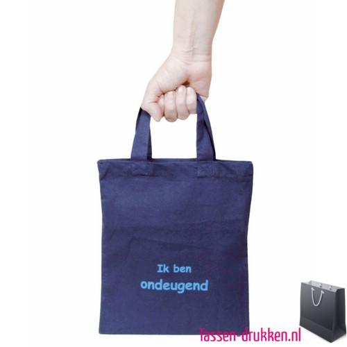 16e6c52251b Katoenen tas klein bedrukken blauw, katoenen tas bedrukt, bedrukte  gekleurde katoenen tassen, goedkope