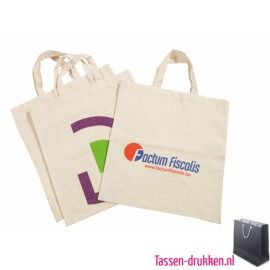 Katoenen tas kort bedrukken duurzaam, katoenen tas bedrukt, bedrukte katoenen tassen met logo, goedkope katoenen tassen