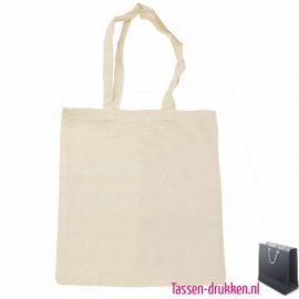 Katoenen tas lang bedrukken duurzaam, katoenen tas bedrukt, bedrukte katoenen tassen met logo, goedkope katoenen tassen