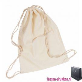 Katoenen tas rugzak bedrukken goedkoop, katoenen rugzak bedrukt, bedrukte katoenen rugzak met logo, goedkope katoenen rugzak