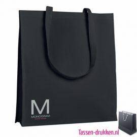 Katoenen tassen bedrukken stevig, biologisch tasje bedrukt, duurzaam tasje met logo, goedkope katoenen tas