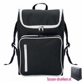 Laptop rugtas 15 inch bedrukken zwart, laptoptas bedrukken, laptoptas bedrukt, bedrukte laptoptas met logo