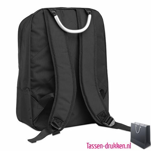 Laptop rugzak 13 inch bedrukken zwart, laptoptas bedrukken, laptoptas bedrukt, bedrukte laptoptas met logo