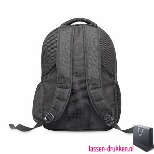 Laptop rugzak 15 inch extreem zware kwaliteit bedrukken achterzijde, laptoptas bedrukken, laptoptas bedrukt, bedrukte laptoptas met logo