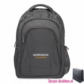Laptop rugzak 15 inch extreem zware kwaliteit bedrukken goedkoop, laptoptas bedrukken, laptoptas bedrukt, bedrukte laptoptas met logo