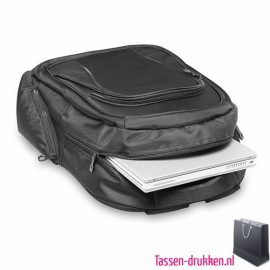 Laptop rugzak 15 inch extreem zware kwaliteit bedrukken veel vakken, laptoptas bedrukken, laptoptas bedrukt, bedrukte laptoptas met logo
