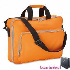 Laptoptas 15 inch gekleurd bedrukken met logo, laptoptas bedrukken, laptoptas bedrukt, bedrukte laptoptas met logo