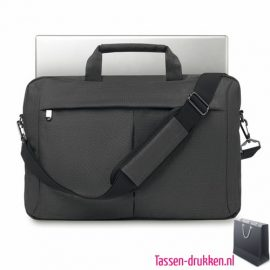 Laptoptas 15 inch luxe bedrukken goedkoop, laptoptas bedrukken, laptoptas bedrukt, bedrukte laptoptas met logo