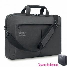 Laptoptas 15 inch luxe bedrukken met logo, laptoptas bedrukken, laptoptas bedrukt, bedrukte laptoptas met logo