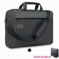 Laptoptas 15 inch luxe bedrukken, laptoptas bedrukken, laptoptas bedrukt, bedrukte laptoptas met logo