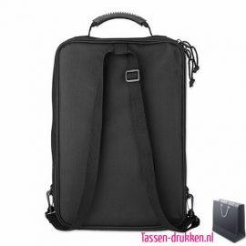 Laptoptas 15 inch rugzak bedrukken zwarte, laptoptas bedrukken, laptoptas bedrukt, bedrukte laptoptas met logo