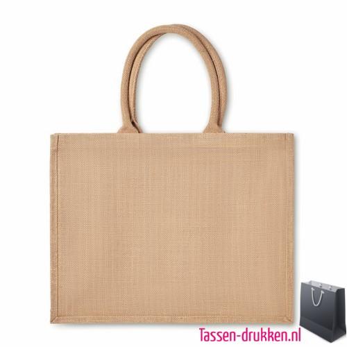 Luxe jute tas bedrukken duurzaam, jute tas bedrukt, bedrukte jute tas met logo