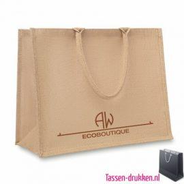 Luxe jute tas bedrukt, jute tas bedrukt, bedrukte jute tas met logo