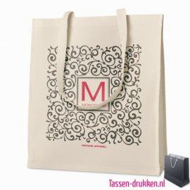 Luxe tas biologisch bedrukken milieuvriendelijk, tassen bedrukken, tasje bedrukt, bedrukte tas met logo
