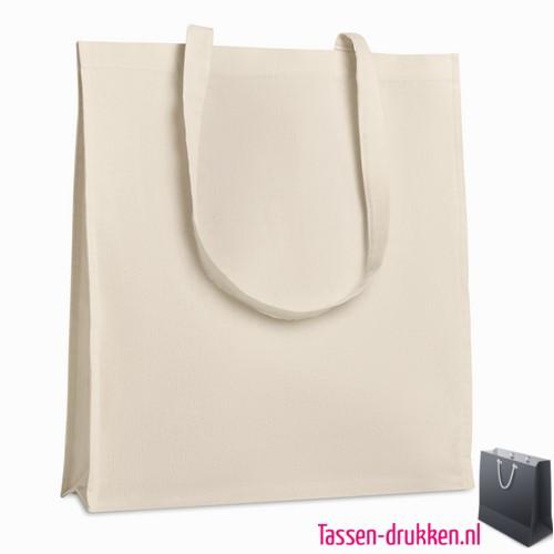 Luxe tas biologisch bedrukken shopper, tassen bedrukken, tasje bedrukt, bedrukte tas met logo