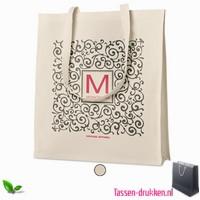 Luxe tas biologisch bedrukken, tassen bedrukken, tasje bedrukt, bedrukte tas met logo