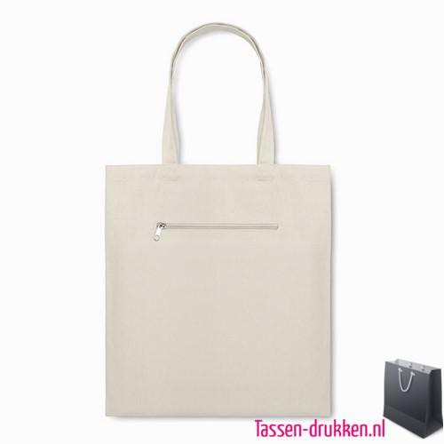 Milieuvriendelijke canvas boodschappentas bedrukken duurzaam, tassen bedrukken, tasje bedrukt, bedrukte tas met logo