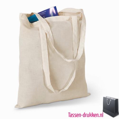 Milieuvriendelijke cotton boodschappentas bedrukken duurzaam, tassen bedrukken, tasje bedrukt, bedrukte tas met logo