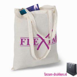 Milieuvriendelijke cotton boodschappentas bedrukt, tassen bedrukken, tasje bedrukt, bedrukte tas met logo