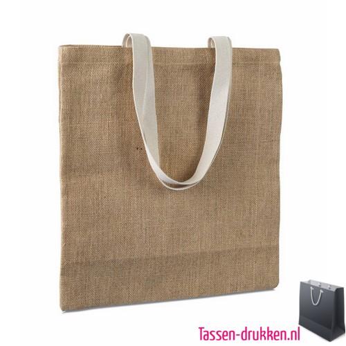 Milieuvriendelijke jute tas bedrukken naar wens, jute tas bedrukt, bedrukte jute tas met logo