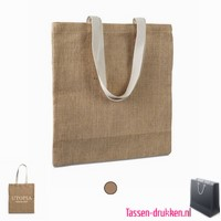 Milieuvriendelijke jute tas bedrukken, jute tas bedrukt, bedrukte jute tas met logo