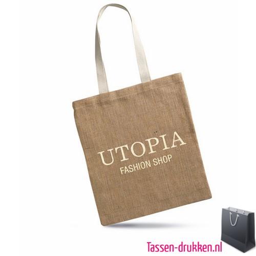 Milieuvriendelijke jute tas bedrukt, jute tas bedrukt, bedrukte jute tas met logo