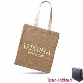 Milieuvriendelijke jute tas bedrukte, jute tas bedrukt, bedrukte jute tas met logo