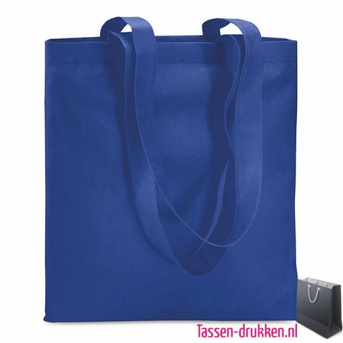 Non woven boodschappentas bedrukken blauw, bedrukte Non woven tas, goedkope herbruikbare tas bedrukken