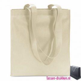 Non woven boodschappentas bedrukken ecru, bedrukte Non woven tas, goedkope herbruikbare tas bedrukken