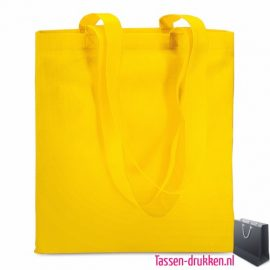 Non woven boodschappentas bedrukken geel, bedrukte Non woven tas, goedkope herbruikbare tas bedrukken