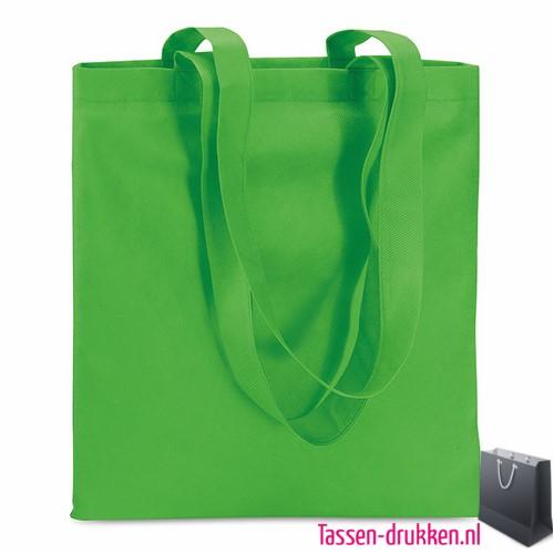 Non woven boodschappentas bedrukken groen, bedrukte Non woven tas, goedkope Non woven tas met logo