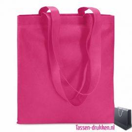 Non woven boodschappentas bedrukken roze, bedrukte Non woven tas, goedkope Non woven tas met logo