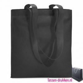 Non woven boodschappentas bedrukken zwart, bedrukte Non woven tas, goedkope Non woven tas met logo