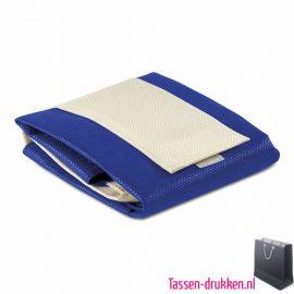 Non woven boodschappentas opvouwbaar bedrukken blauw, bedrukte Non woven tas, goedkope Non woven tas met logo