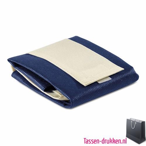Non woven boodschappentas opvouwbaar bedrukken blauwe, bedrukte Non woven tas, goedkope Non woven tas met logo