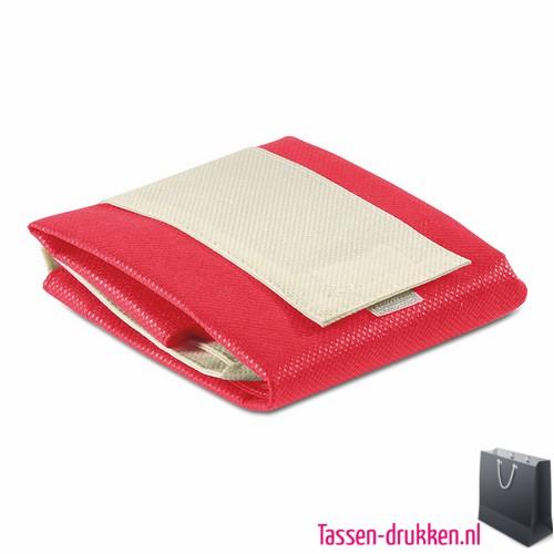 Non woven boodschappentas opvouwbaar bedrukken rode, bedrukte Non woven tas, goedkope Non woven tas met logo