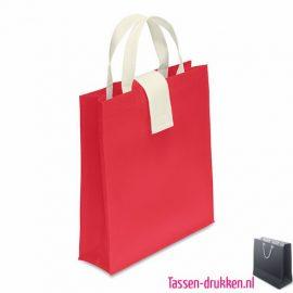 Non woven boodschappentas opvouwbaar bedrukken rood, bedrukte Non woven tas, goedkope Non woven tas met logo
