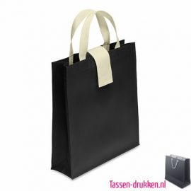 Non woven boodschappentas opvouwbaar bedrukken zwart, bedrukte Non woven tas, goedkope Non woven tas met logo