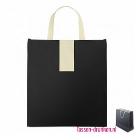 Non woven boodschappentas opvouwbaar bedrukken zwarte, bedrukte Non woven tas, goedkope Non woven tas met logo